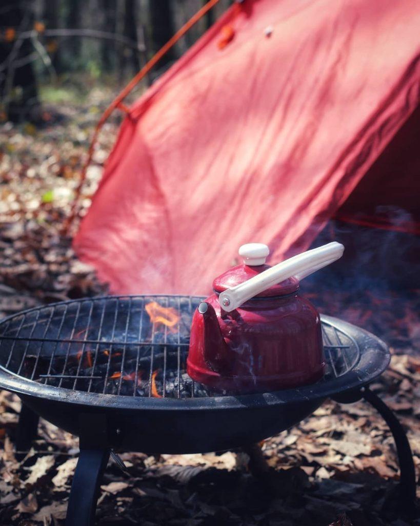 emaye kamp çaydanlığı
